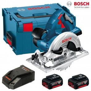 Акумулаторен ръчен циркуляр Bosch GKS 18 V-LI R Professional - 2 x 5,0 Ah