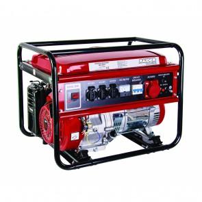 Бензинов трифазен генератор Raider RD-GG07 - 230/380 V, 5000 W