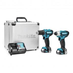 Комплект акумулаторни инструменти Makita DF333D - 12 V, 1.5 Ah