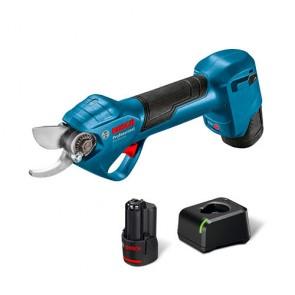Акумулаторна градинска ножица Bosch ProPruner, 12 V, 25 мм, с 2 батерии 3.0 Ah и зарядно GAL 12V-20