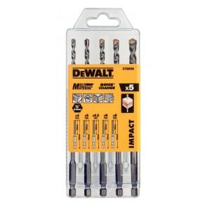 Комплект свредла с шестограмна опашка DeWALT DT60099 - 5 бр