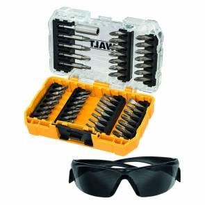 Комплект накрайници, битове и предпазни очила DeWALT DT70703 - 47 части