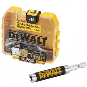 Комплект магнитен адаптор и битове DeWALT DT71511 - 15 части