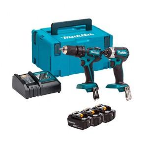 Комплект акумулаторни инструменти Makita DLX2173J - 18 V, 3 Ah
