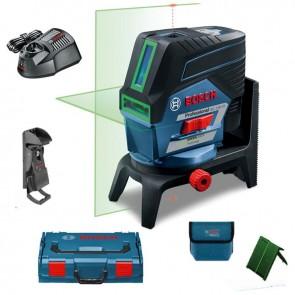 Линеен лазер Bosch GCL2-50CG +RM2 +BM3 +12V Bat.EU, Lboxx 136 + ПОДАРЪК Футболна топка