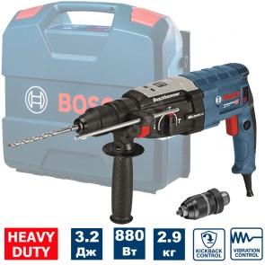 Перфоратор Bosch GBH 2-28 F Professional - с SDS-plus 880 W, 0 - 900 оборота, 0-4000 удара, 3.2 J