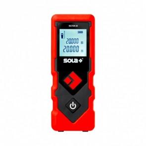 Лазерна ролетка противоударна с LCD дисплей Sola VECTOR 20 - 0.2-20 м, +/-2 мм