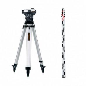Оптичен нивелир LASERLINER AL 26 Plus set - 26 x - лата + тринога