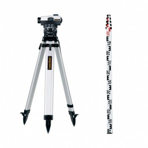 Оптичен нивелир LASERLINER AL 32 Plus - 32 x - лата + тринога