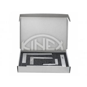 Прецизен универсален прав ъгъл KINEX 100, 150, 200, 250 мм, DIN 875/1 - Комплект 4 бр.