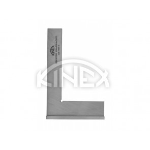 Прецизен прав ъгъл с пета от неръждаема стомана KINEX 100х70 мм, DIN 875/0