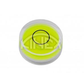 Кръгъл нивелир KINEX D25x10,5mm жълто-зелен