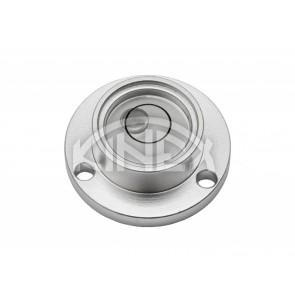 Кръгъл нивелир KINEX с отвори за монтаж D30 - Silver
