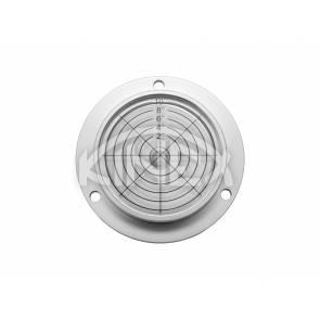 Кръгъл нивелир KINEX с отвори за монтаж +/- 10 °, D80 / 62x15mm - Silver