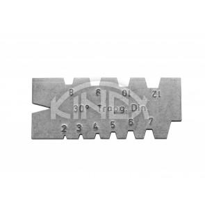 Шаблон за измерване на трапецовидна резба KINEX 2-12 мм, 30 °