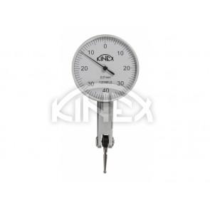 Индикаторен тестов часовник KINEX - horizontal (± 0,8) 40 / 0,01mm, карбиден накрайник, ISO 46325, CSN 25 182
