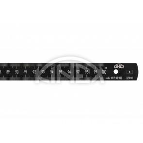 Гъвкава стоманена линийка KINEX 1000 мм, BLACK COAT, INOX