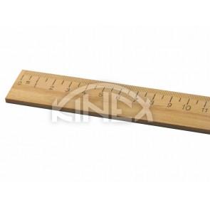 Дървена линийка KINEX 300 мм