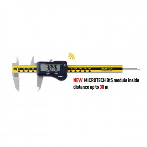 Дигитален шублер Microtech IP67, 0-200 mm, 0.01 mm-WIRELESS-Carbide