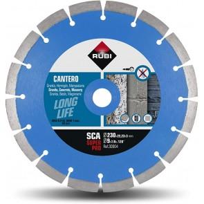 Диамантен диск за сухо рязане на бетонови изделия, керемиди и мрамори Rubi / ф230х22.23мм