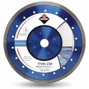 Диамантен диск за мокро рязане на гранитогрес и порцелан Rubi TVH / ф250x25.4мм