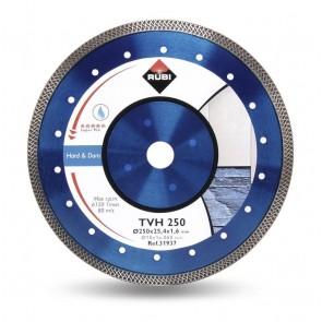 Диамантен диск за мокро рязане на гранитогрес и порцелан Rubi TVH / ф300x25мм