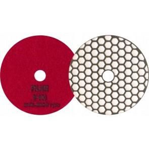 Диамантен диск за шлайфане на гранит, мрамор, камък и скални материали с гръб велкро Rubi / ф100мм, P400
