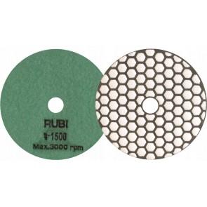 Диамантен диск за шлайфане на гранит, мрамор, камък и скални материали с гръб велкро Rubi / ф100мм, P1500