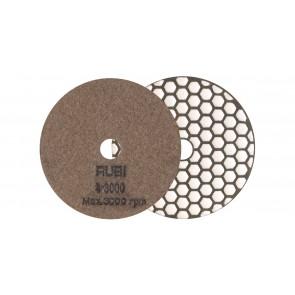 Диамантен диск за шлайфане на гранит, мрамор, камък и скални материали с гръб велкро Rubi / ф100мм, P3000