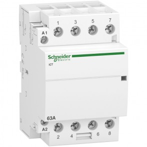 Контактор автоматичен Schneider Electric iCT / 63А, 220V, 4P, 4 NO