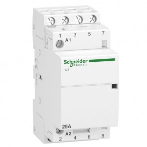 Контактор автоматичен Schneider Electric iCT / 25А, 220V, 4NO, 50Hz
