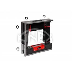 Квадратен високо прецизен нивелир Kinex с магнит - 150x150x44 мм, 0,02 мм
