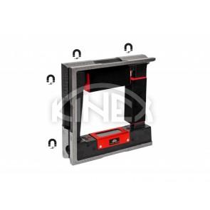 Квадратен високо прецизен нивелир Kinex с магнит - 150 мм. 200 мм, 250 мм, 300 мм, CSN 25 5739-1