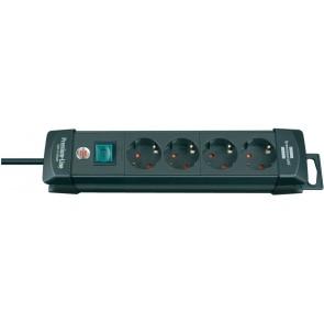 Разклонител Brennenstuhl Premium-Line extension 4 контакта , черен - 1,8m, H05VV-F, 3G1,5
