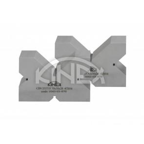 V-блок четири канала (двойка) KINEX- закалени, 4x90°, 130 mm, CSN 25 5533