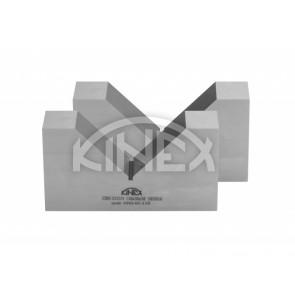 V-блок единично вдлъбнатини (двойка) KINEX- закалени, 1x90 °, 110 mm, CSN 25 5531531