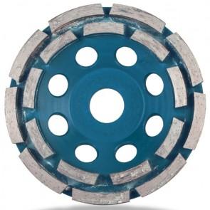 Диамантен диск за шлайфане на бетон Rubi / ф100x22.23мм, двуредов