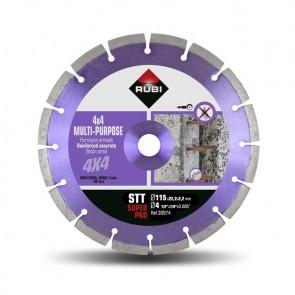 Диамантен диск за сухо рязане на армиран бетон и строителни материали Rubi STT / ф115х22.23мм