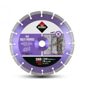 Диамантен диск за сухо рязане на армиран бетон и строителни материали Rubi STT / ф230х22.23мм