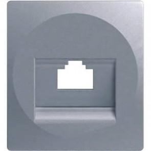 Адаптер за RJ жак 1-ен TEM Ekonomik - Сребро