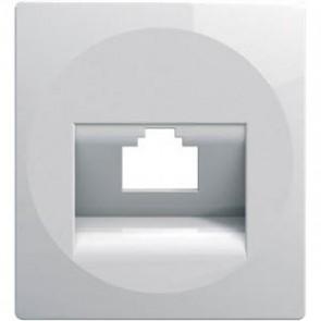 Адаптер за RJ жак 1-ен TEM Ekonomik - Бяло