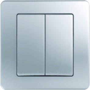 Девиаторен ключ TEM Ekonomik СХ.6+6- Сребро