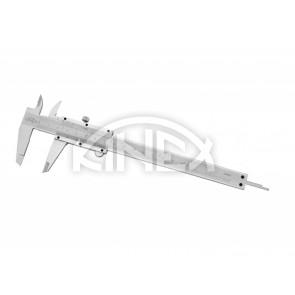 Шублер Kinex с заключващ винт и дълбокомер 0-150 мм, 0,05 mm, mm+inch - Професионален