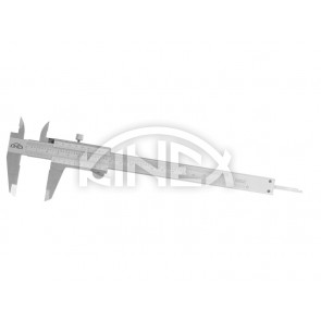 Шублер Kinex с заключващ винт и дълбокомер 0-160 мм, 0,02 mm, mm+inch - Професионален