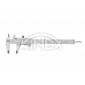 Шублер Kinex с заключващ винт и дълбокомер 0-160 мм, 0,05 mm, mm+inch, Inox - Професионален
