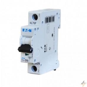Автоматичен прекъсвач EATON PL6-C10/1 / 10A, 6kA