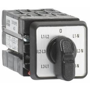 Пакетен прекъсвач ABB ОMV30PB 10A L3L1-L2L3-L1L2-0-L1N-L2N-L3N