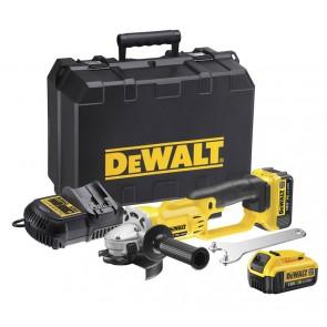 Акумулаторен ъглошлайф DeWALT DCG412M2, 18V, 2 x 4Ah, 125mm