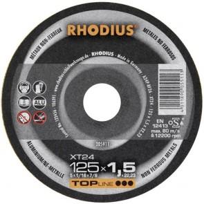 Карбофлексов диск за рязане алуминий Rhodius XT24 / ф125х1.5х22.23мм