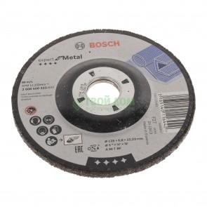 Диск Bosch за шлайфане за метал ф125 x 6 мм